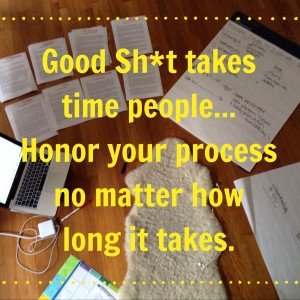 Why Good Sh*t Takes Time + How to Let Your Process Unfold With Ease (And Enter to WIN!)